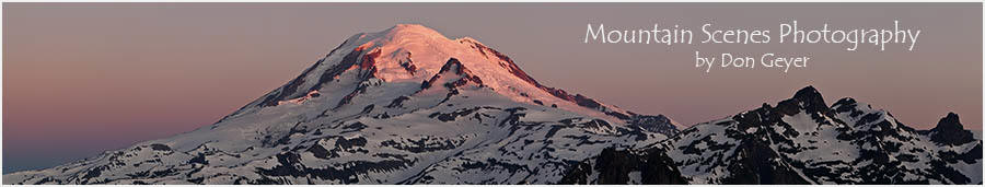 Image of Mount Rainier panorama sunrise