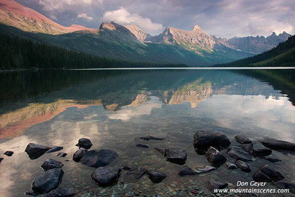 storm clouds reflected in elizabeth lake