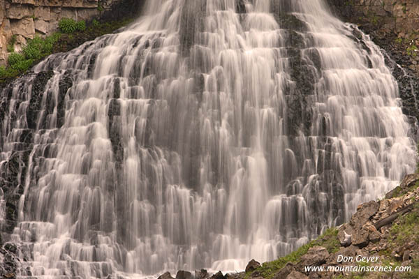 rustic falls yellowstone national park photos pictures