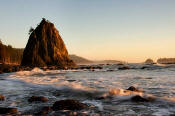 Image of Evening light on Rialto Beach, Olympic National Park