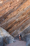 Image of hiker in Fall Canyon, Death Valley