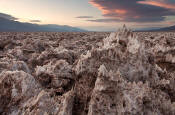 Image of Devil's Golf Course, sunset, Death Valley