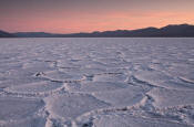 Image of Badwater Salt Pan at sunset, Death Valley