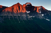 Image of last light on Cannon Mountain in Glacier National Park.