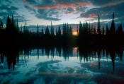Image of Sunrise reflected in Reflection Lakes