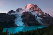 Image of Mount Robson and Berg Lake at dawn