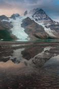 Image of Mount Robson and morning storm clouds