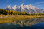Image of Grand Teton at Schwabacher Landing, Wyoming