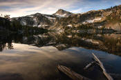 Image of Eagle Cap Peak reflected in Mirror Lake, Wallowas