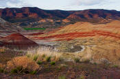 Image of the Painted Hills at sunset, John Day